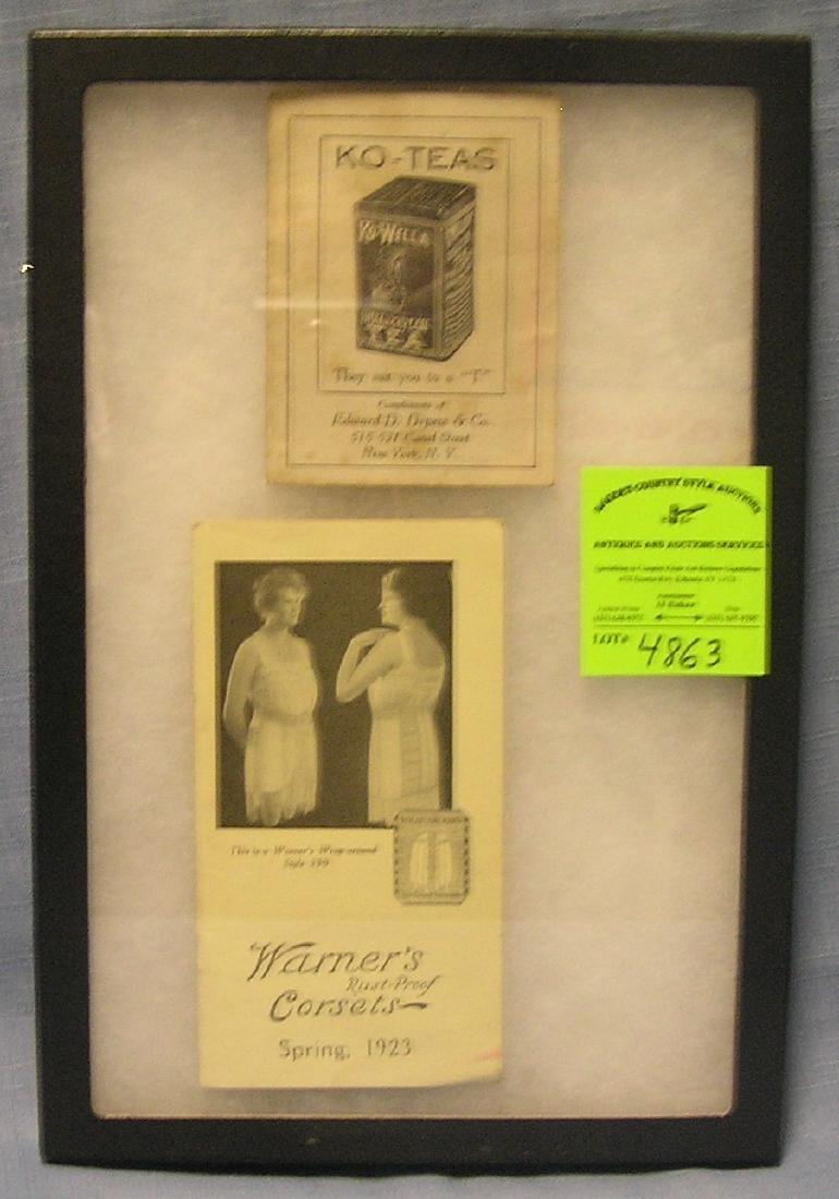 Pair of antique advertising brochures