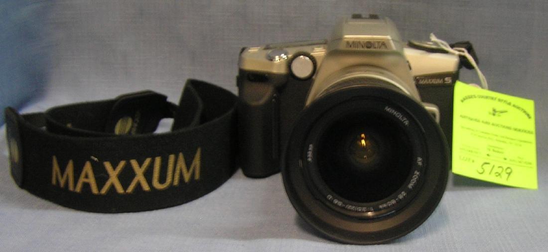 Vintage Minolta maxxum camera