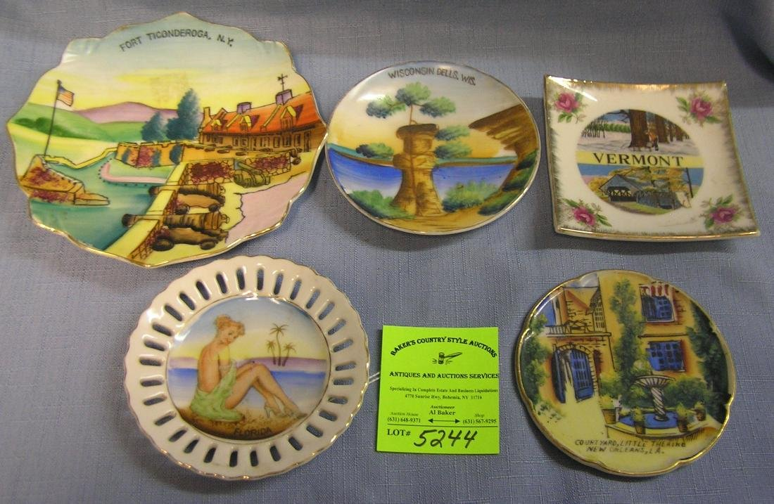 Collection of souvenir dishes