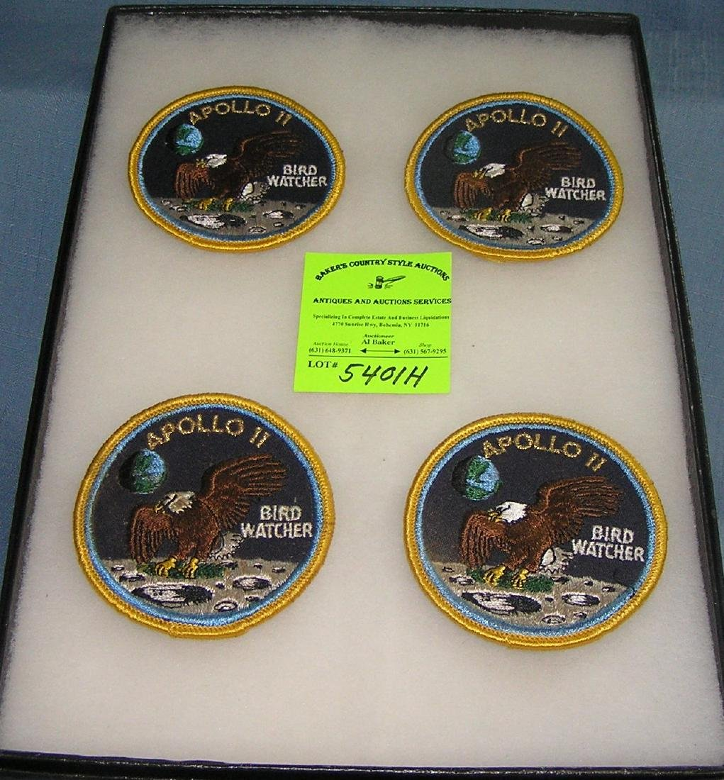 Group of Apollo 11 first man on the moon patches