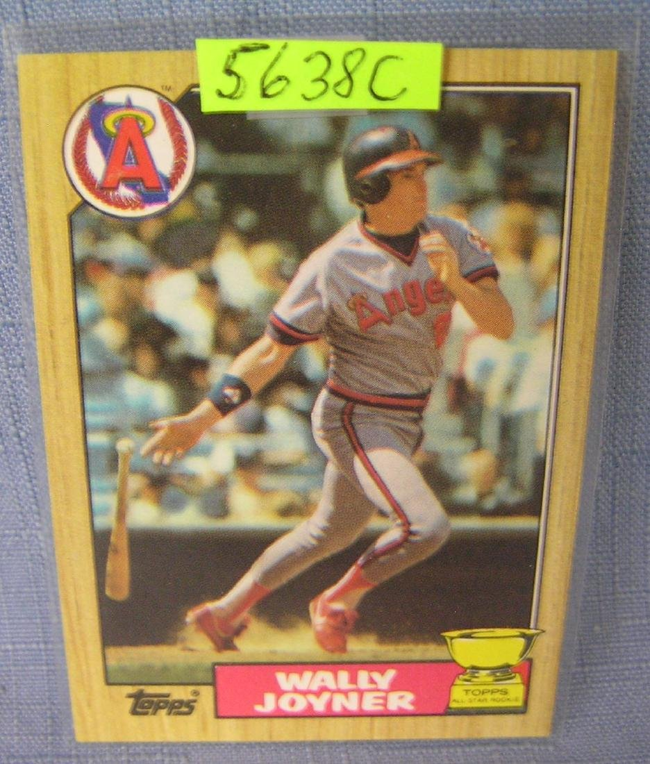 Wally Joyner rookie baseball card