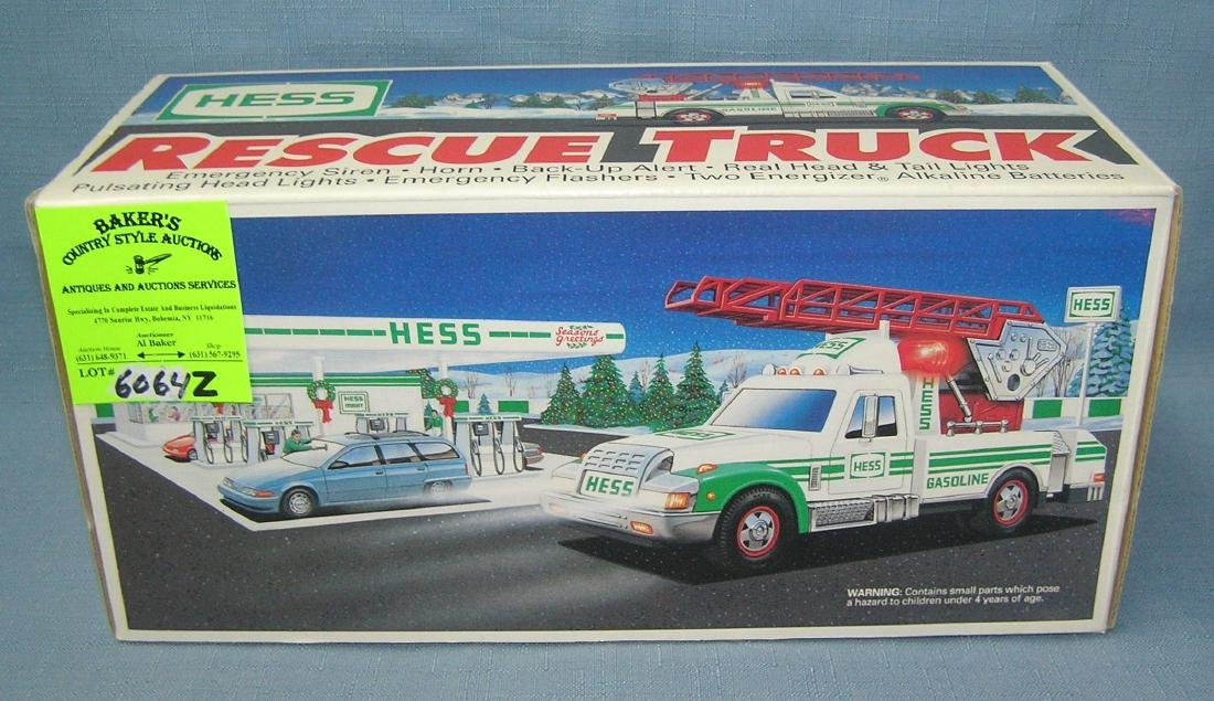 Vintage Hess rescue truck
