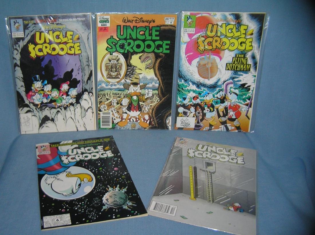 Group of vintage Walt Disney Uncle Scrooge comic books
