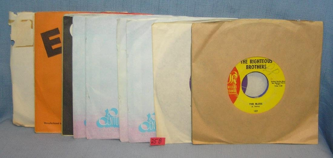 Group of vintage 45 RPM records