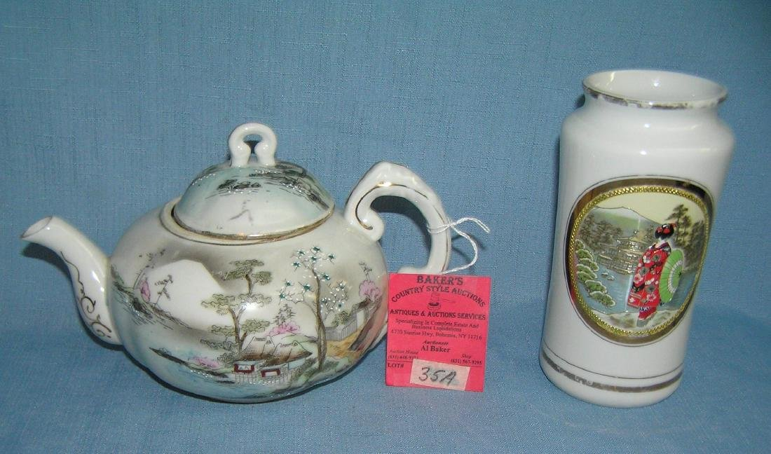 Pair of porcelain Asian collectibles