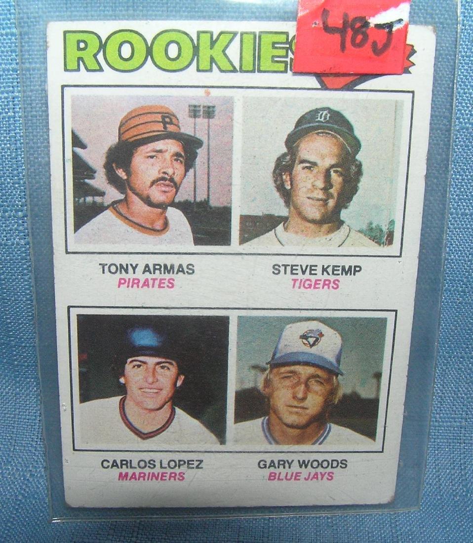 Tony Arman and Steve Kemp rookie baseball card