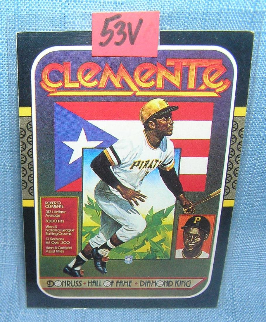 Roberto Clemente all star baseball card by Leaf