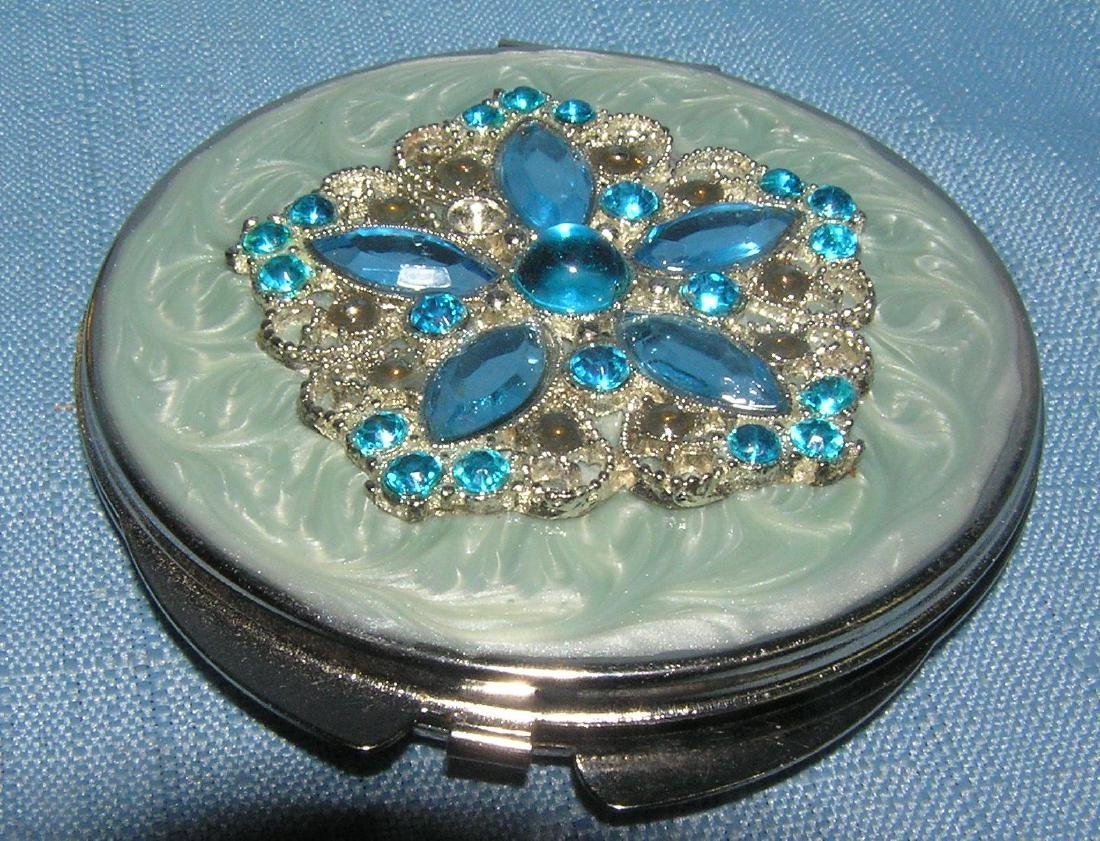Pair of quality make up compacts and paper weight - 3