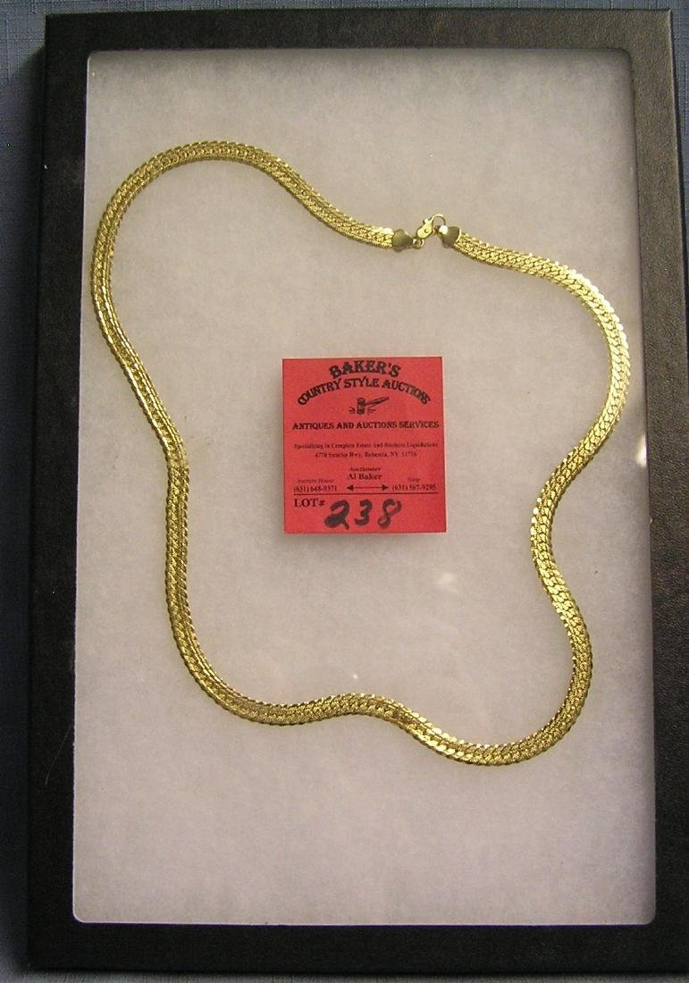 Costume jewelry gold plated necklace