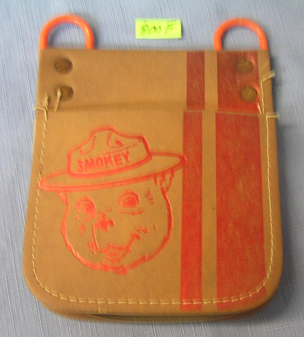 Vintage Smokey the bear leather pouch