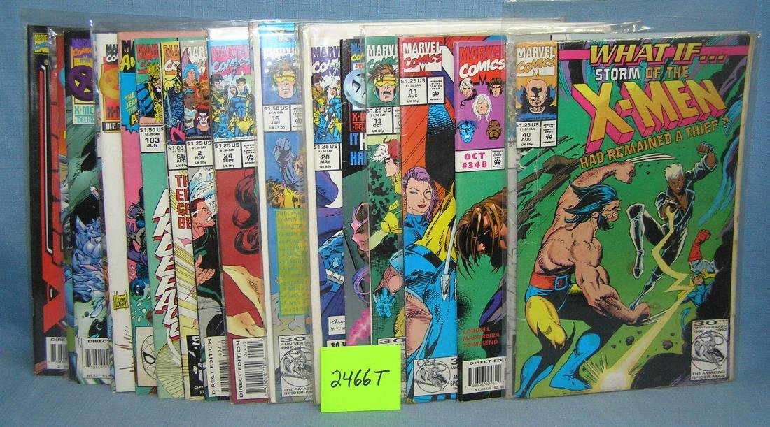 Large group of vintage Xmen comic books