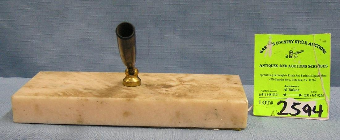 Early marble fountain pen holder