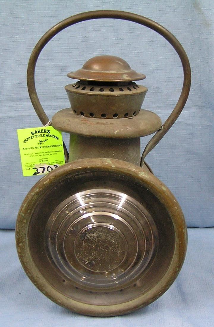 Early antique signal lantern