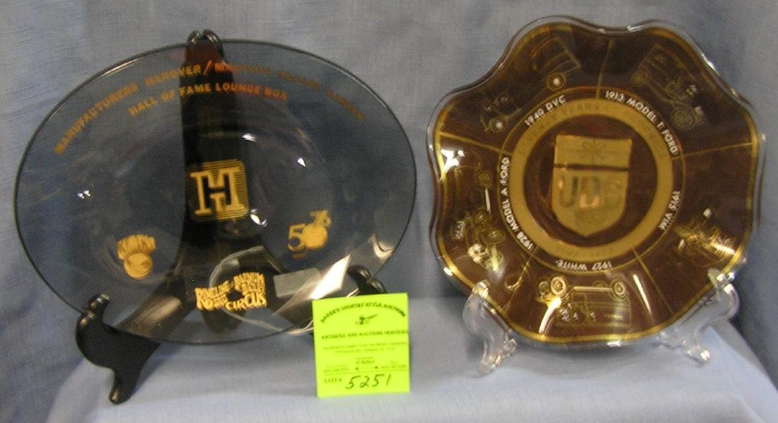 Vintage dishes inc. Madison Sq. Garden and UPS