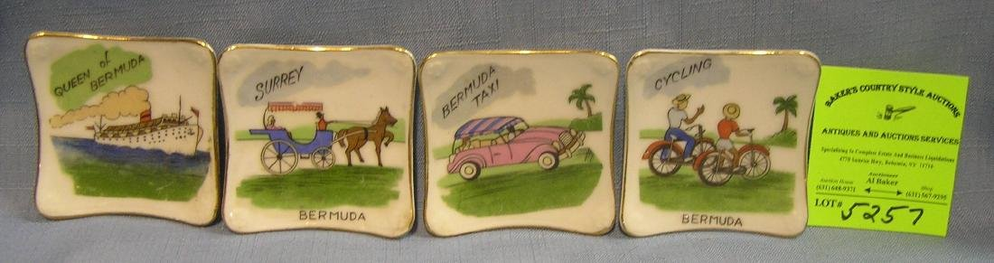 Group of souvenir dishes from Bermuda