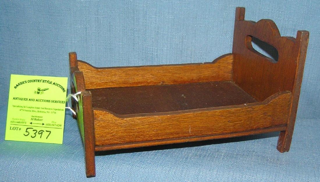 Miniature salesman sample oak bed