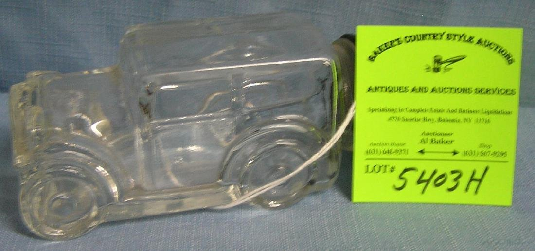 Vintage glass automobile candy container
