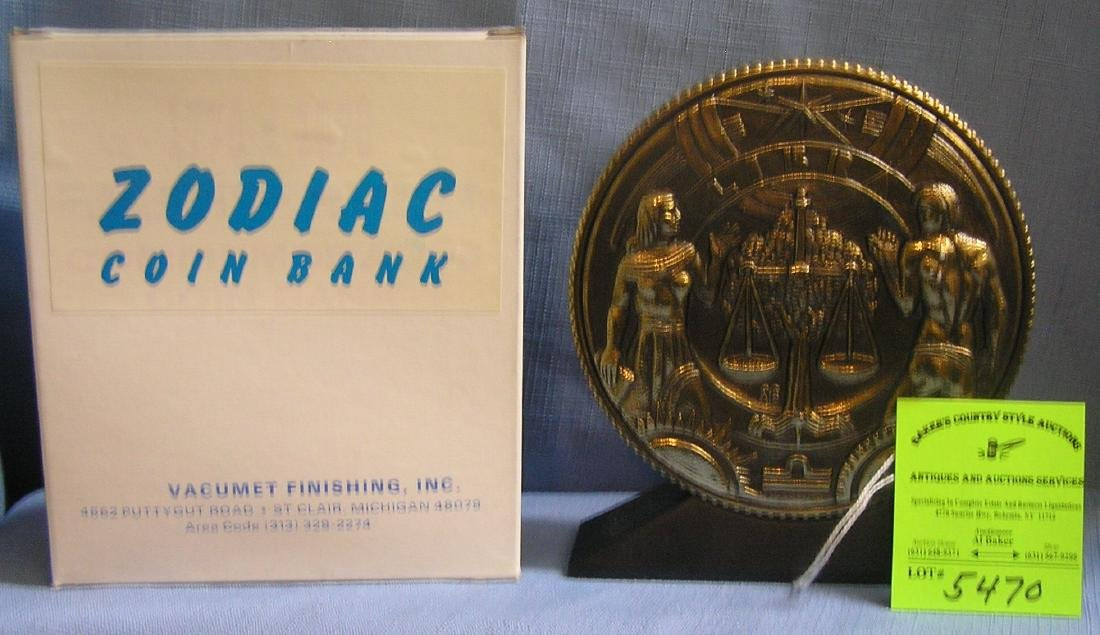 Vintage Libra coin bank mint with original box