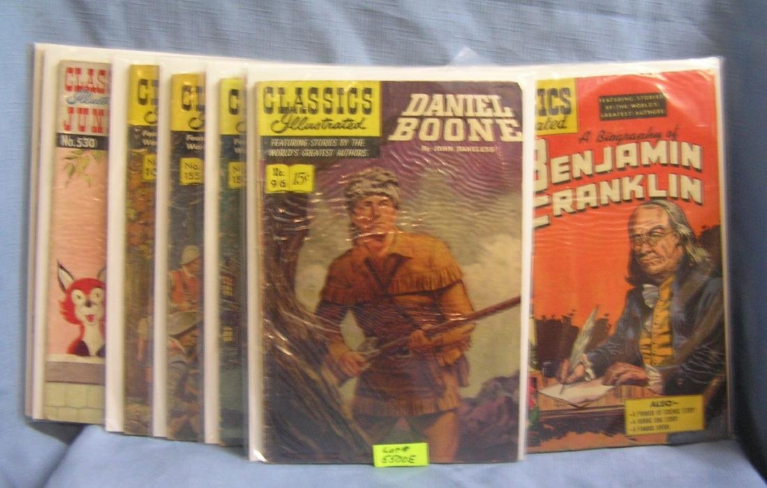 Collection of early Classic's illistrated comic books