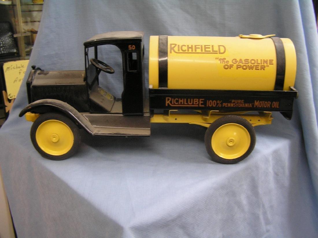 Antique pressed steel tank truck circa 1930's