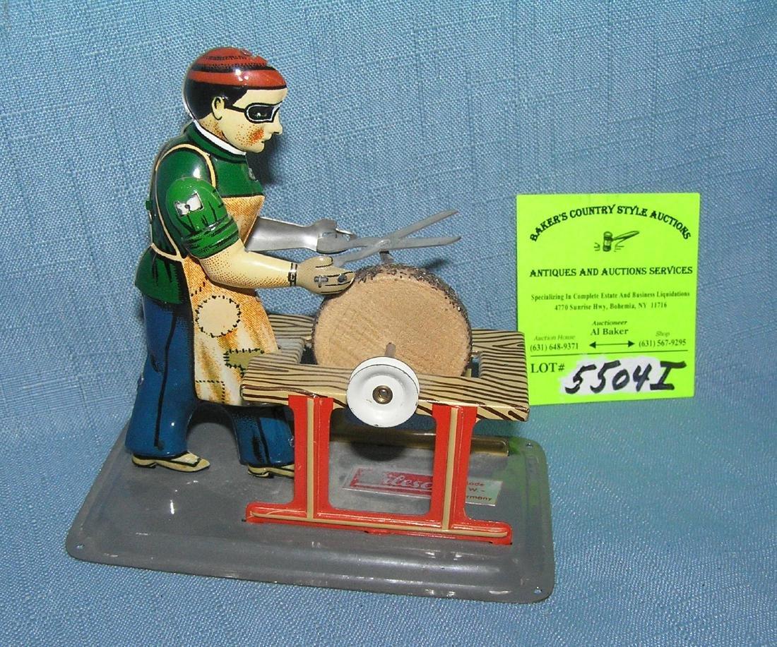 Wilesco all tin mechanical blacksmith toy