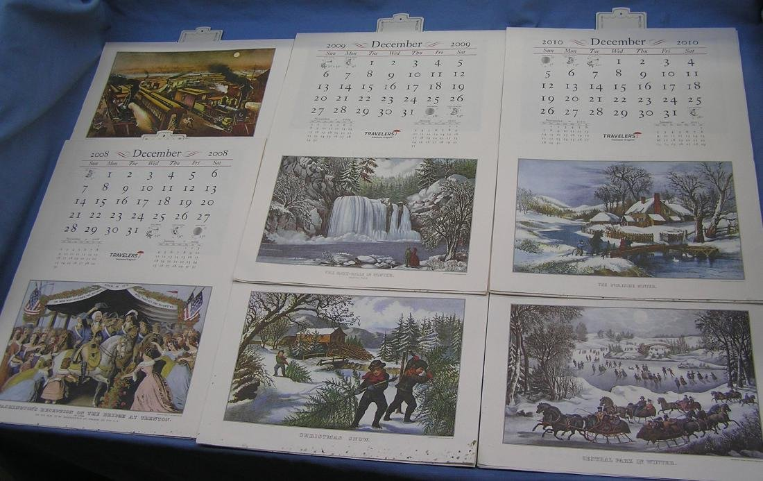 Collection of antique style calendars