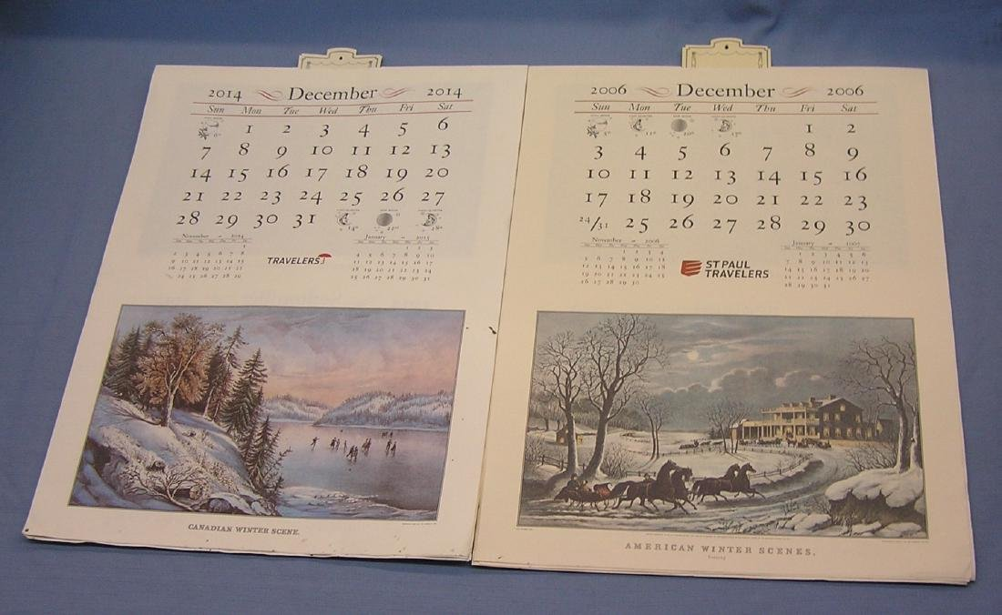Collection of antique style calendars - 2