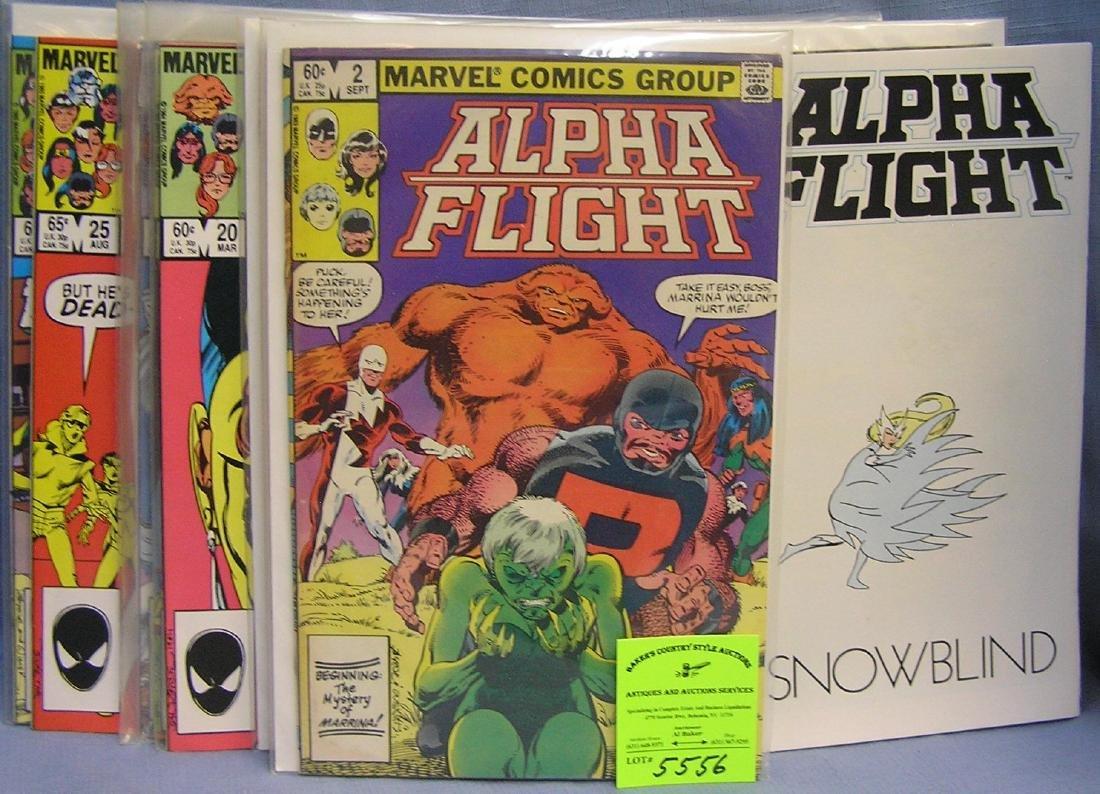 Group of vintage marvel alpha flight comics