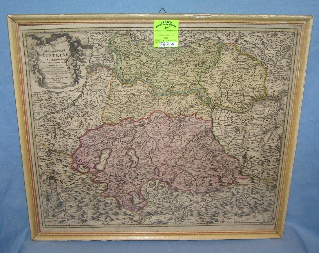 Antique map of Austria