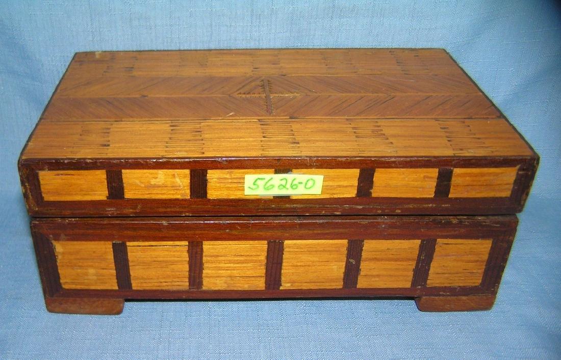 Early folk art hand made jewelry box