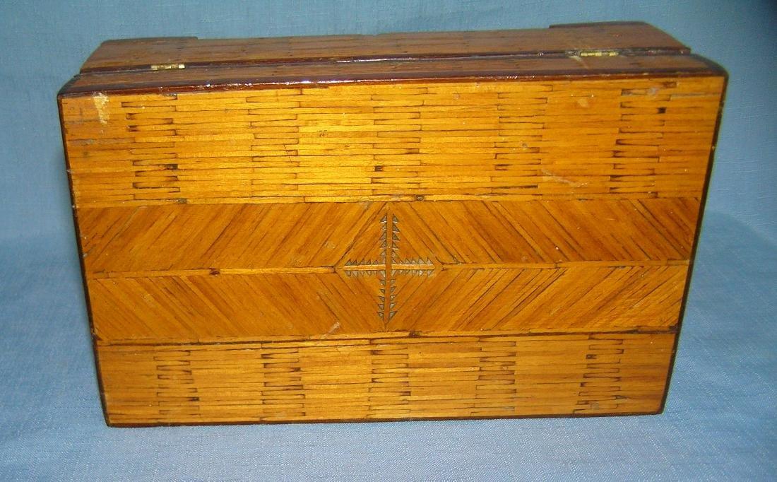Early folk art hand made jewelry box - 2