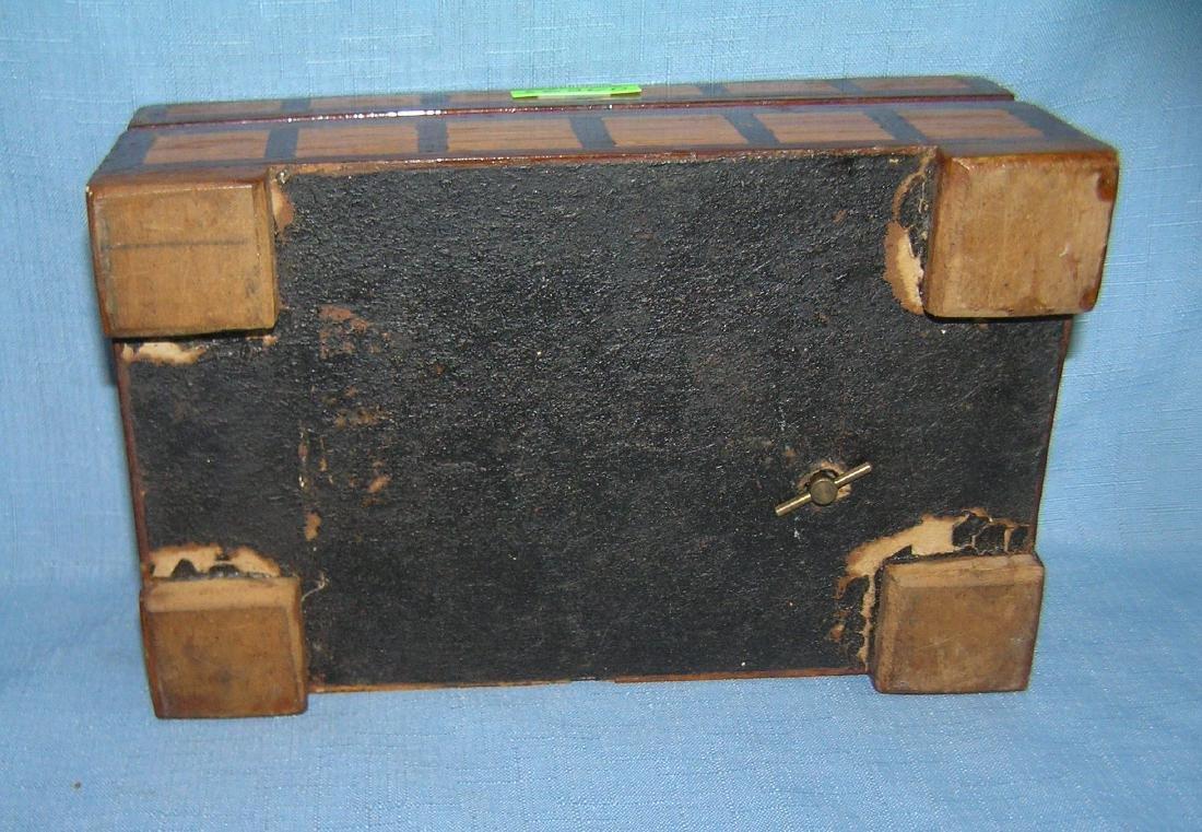 Early folk art hand made jewelry box - 3