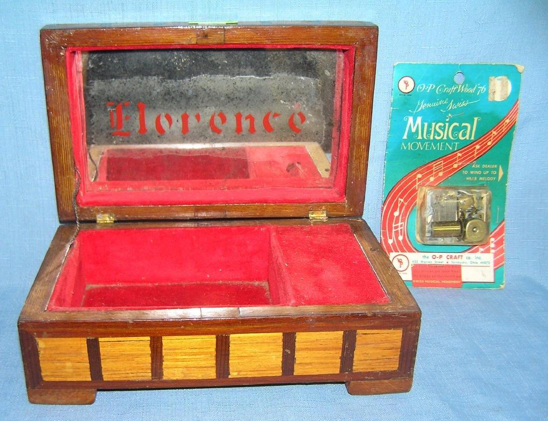 Early folk art hand made jewelry box - 8