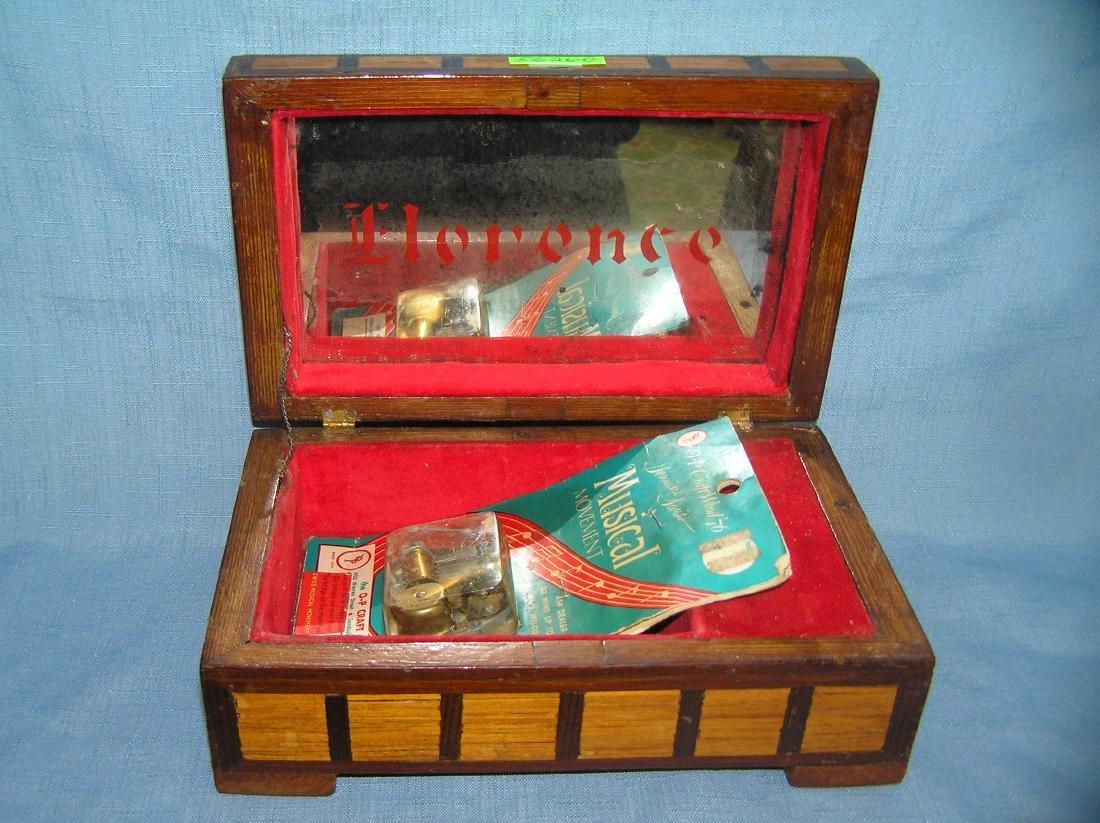 Early folk art hand made jewelry box - 9