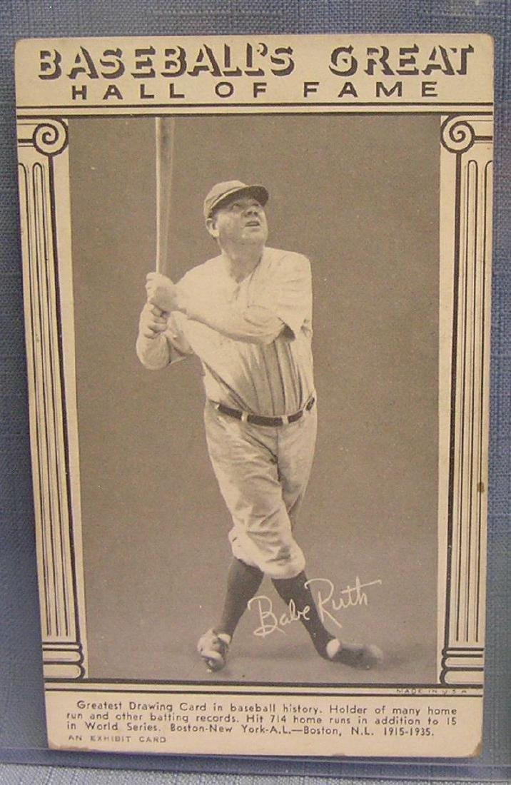Vintage Babe Ruth Penny Arcade exhibit card