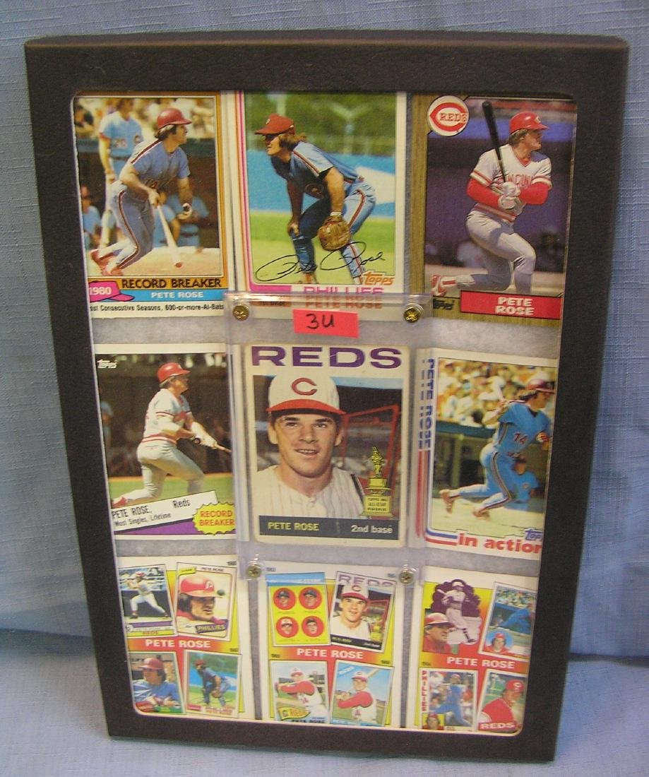 Pete Rose baseball cards w/ 1st year rookie card