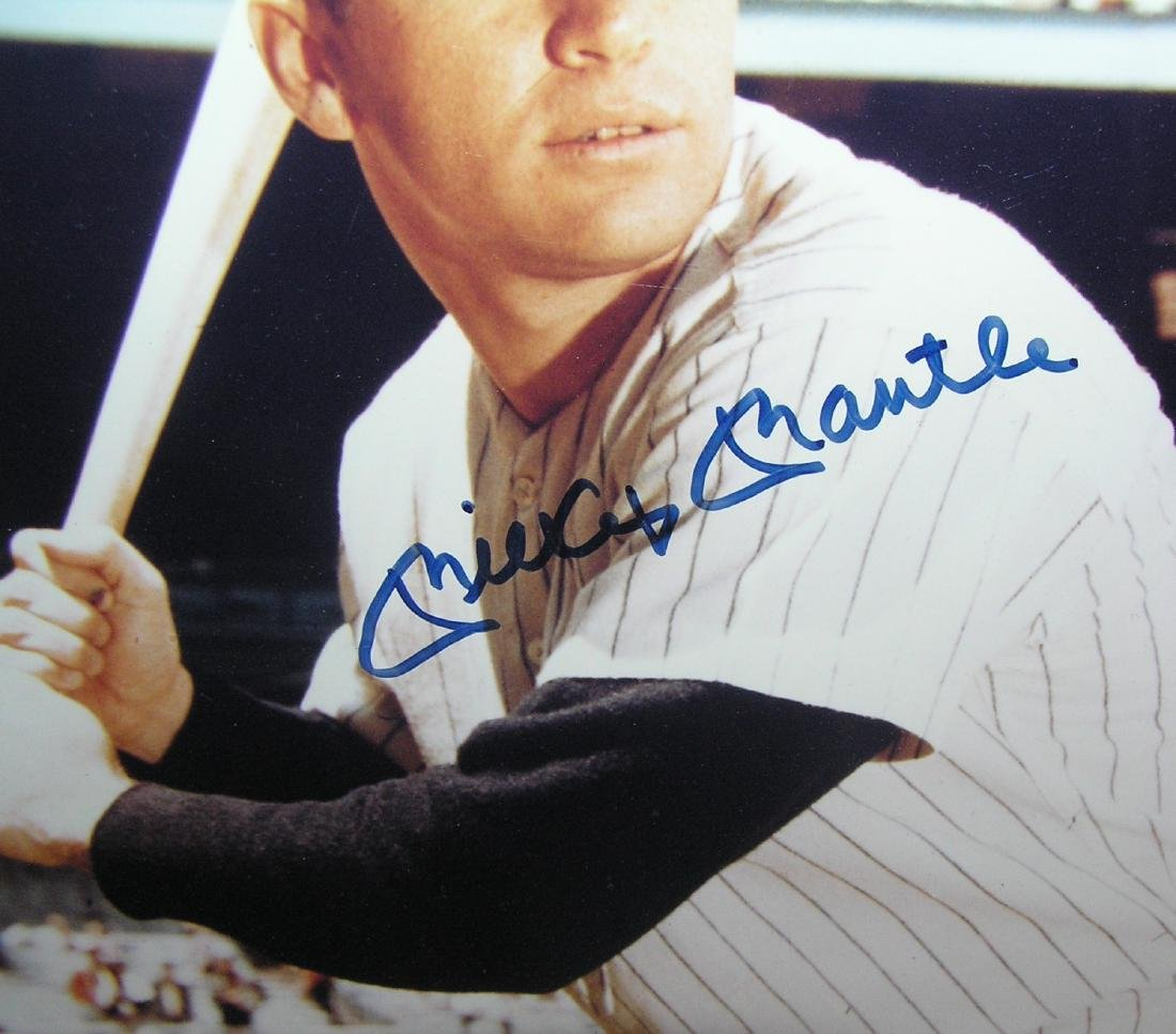 Mickey Mantle matted photograph - 2