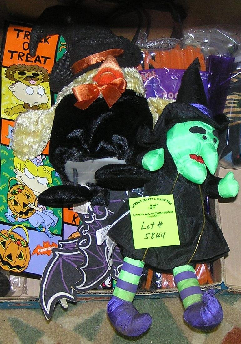 Group of modern Halloween decorations