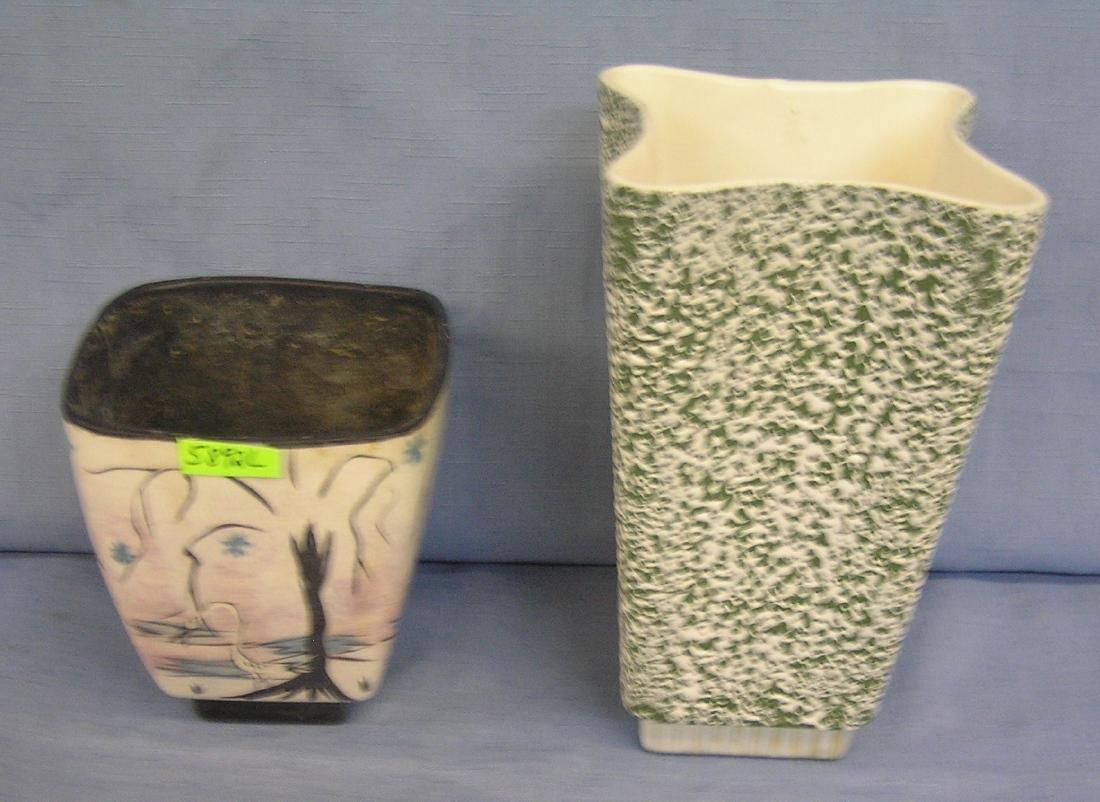 Pair of art pottery vases