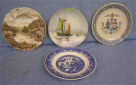 Group of 4 vintage collectible plates