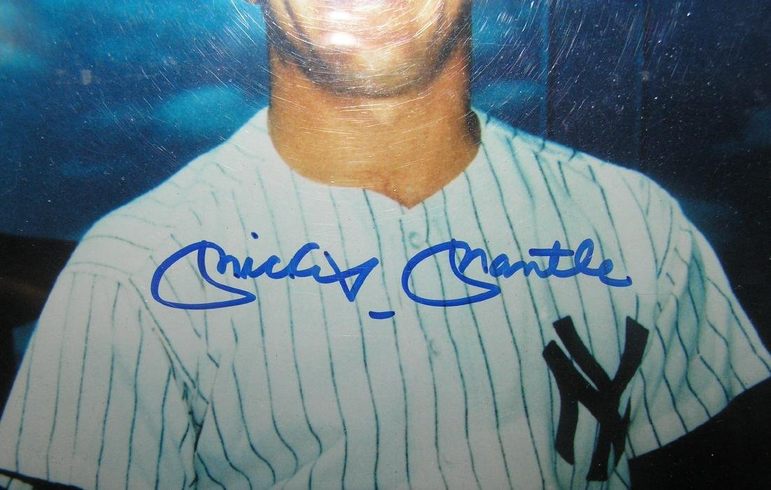 Vintage autographed mickey Mantle color photo - 3