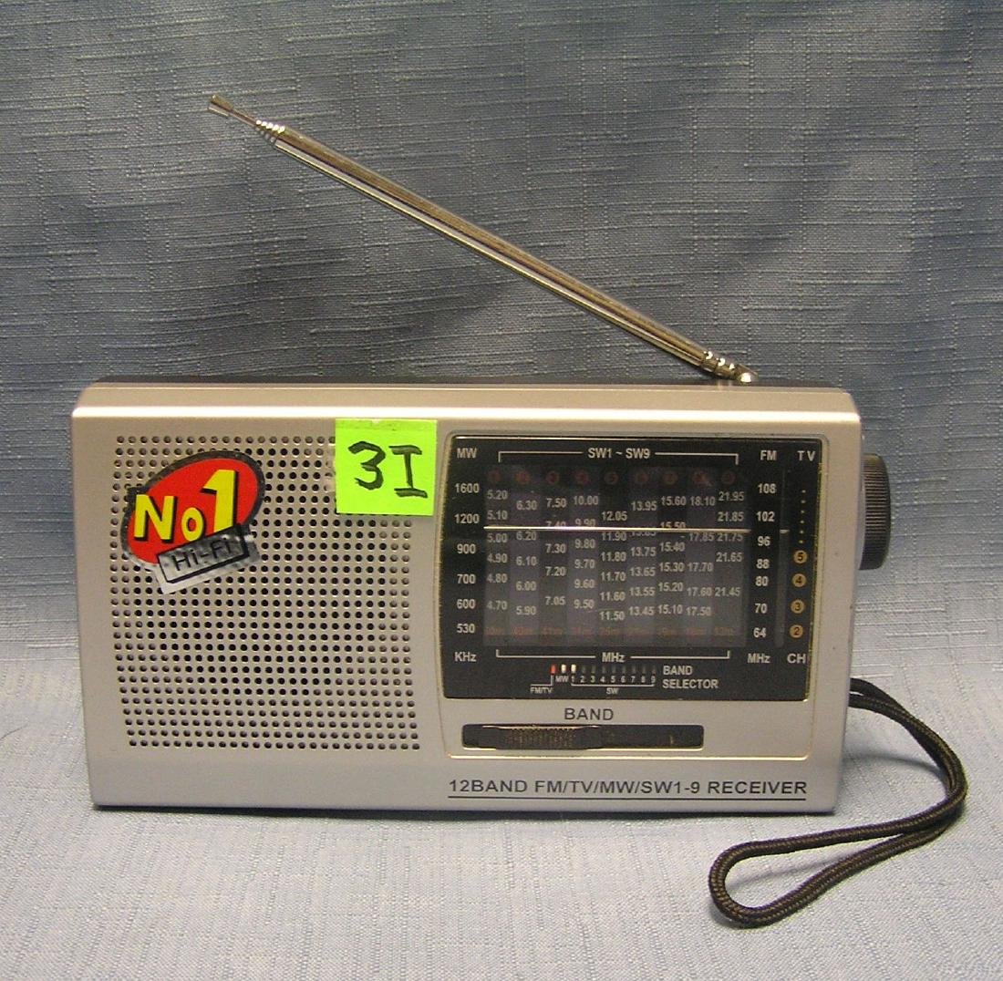 Vintage 12 band FM/TV radio receiver