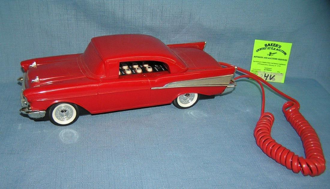 Vintage 1957 Chevrolet figural car shaped phone