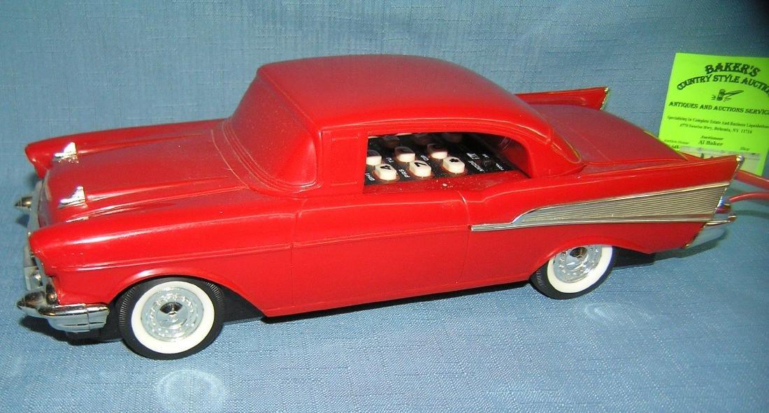 Vintage 1957 Chevrolet figural car shaped phone - 2