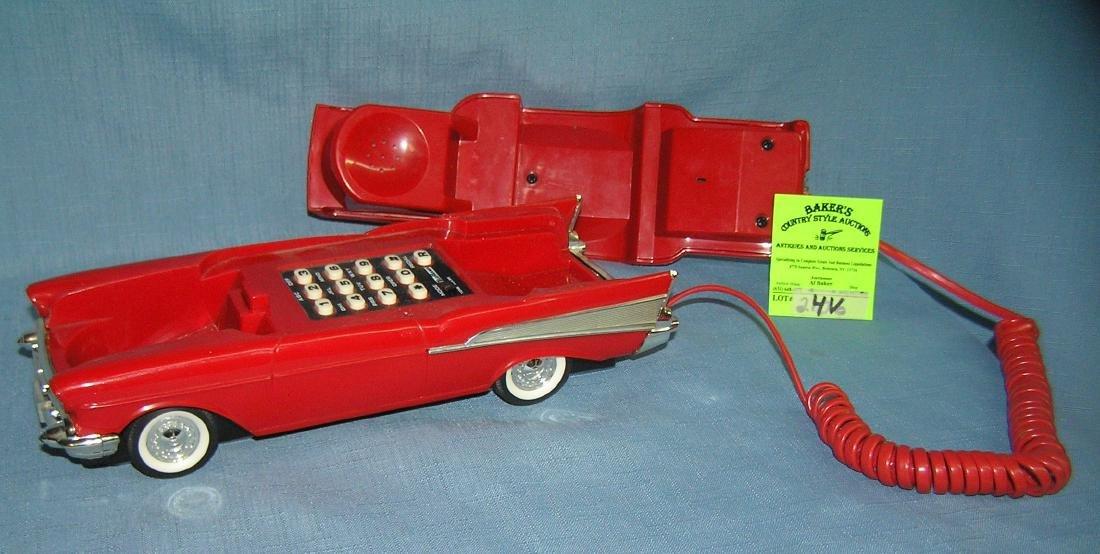 Vintage 1957 Chevrolet figural car shaped phone - 3