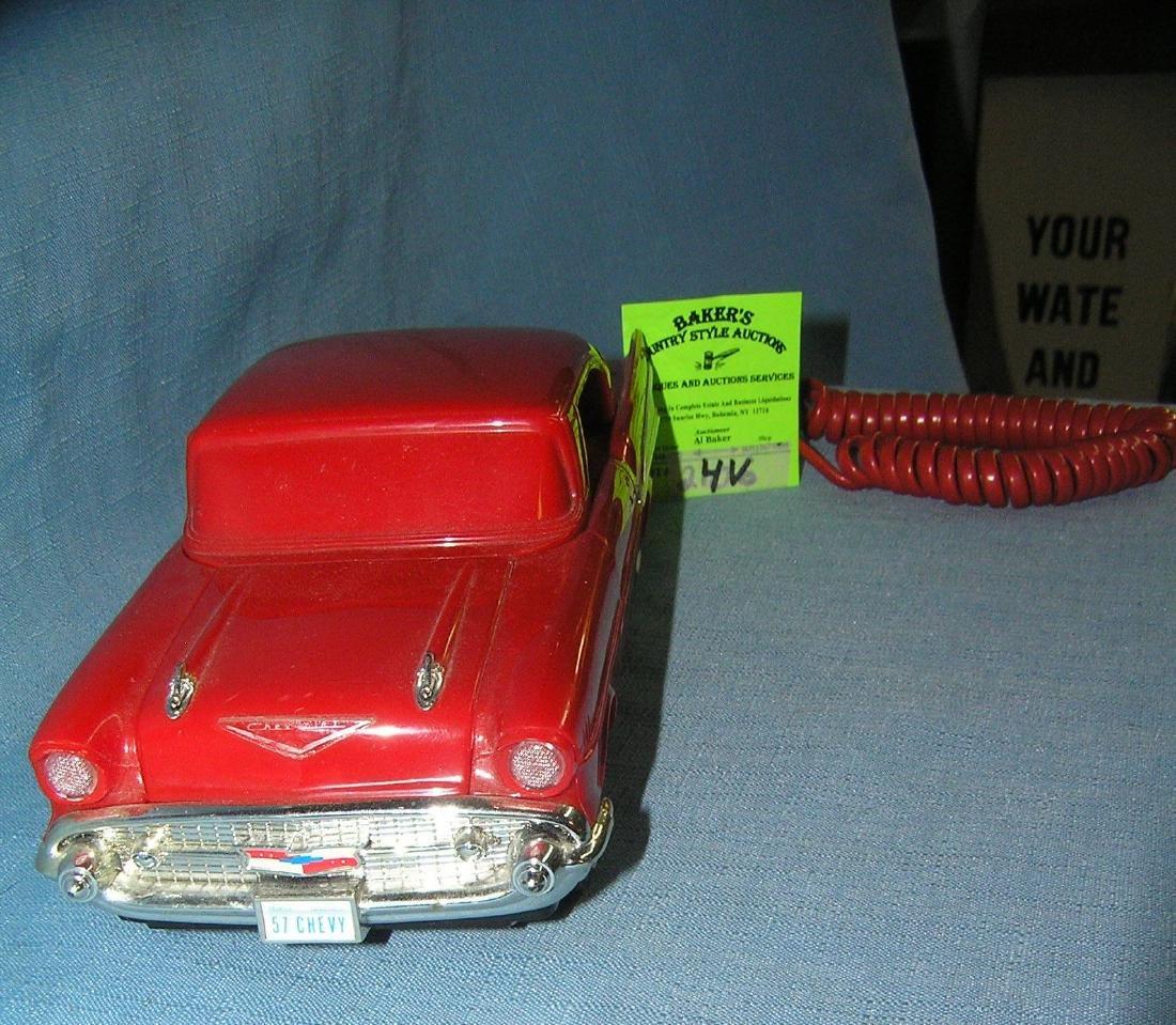 Vintage 1957 Chevrolet figural car shaped phone - 4