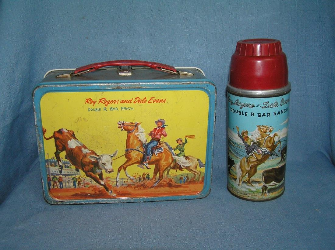 Early Roy Rogers lunch box and thermos - 2