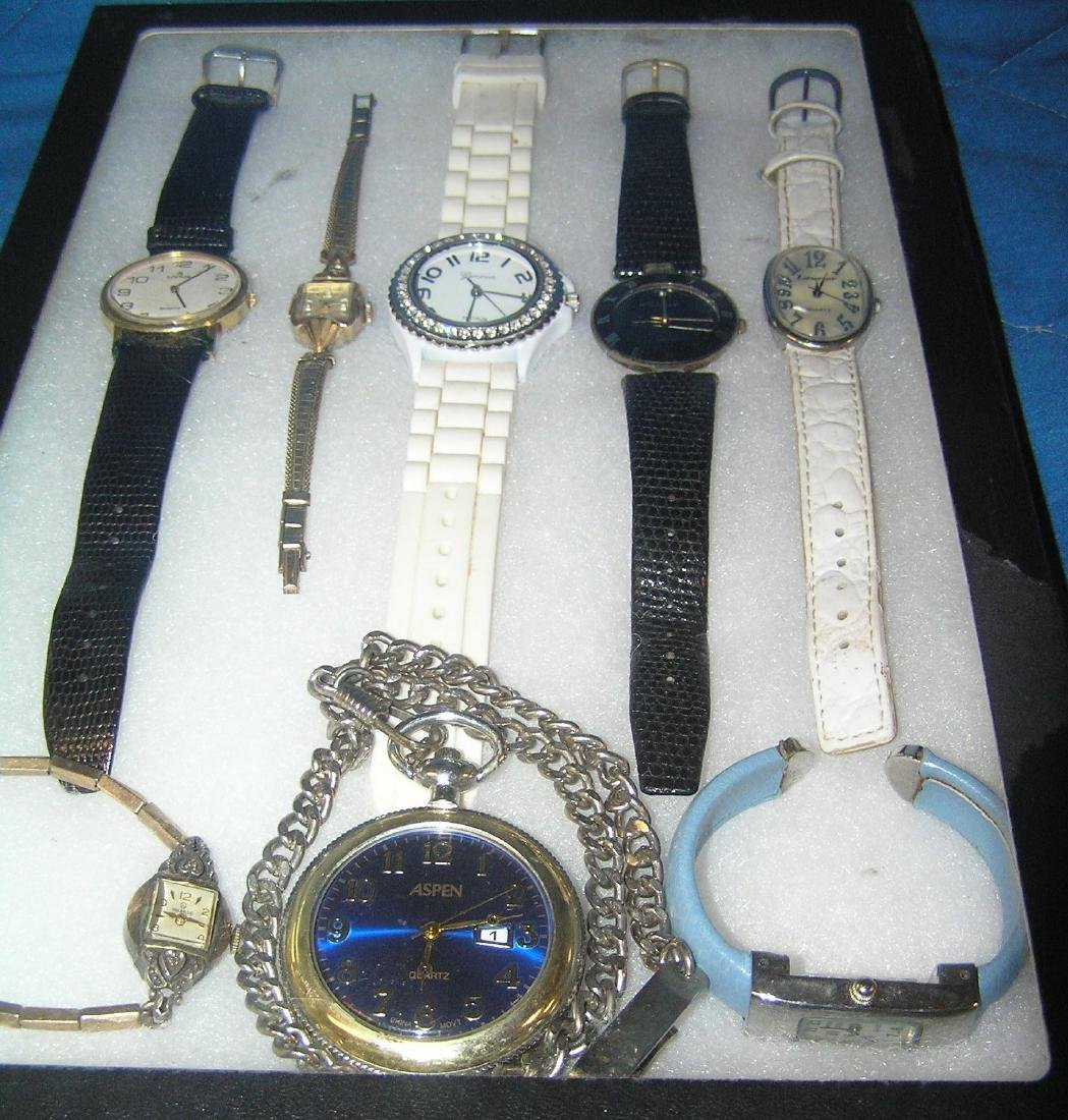 Collection of wrist watches and pocket watch