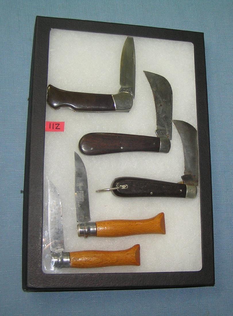 Collection of vintage pocket knives