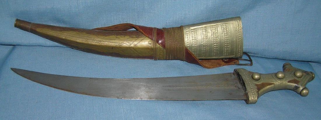 Large antique Arabian fighting dagger